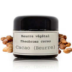 Vegetable butter Cocoa butter BIO (Theobroma cacao)