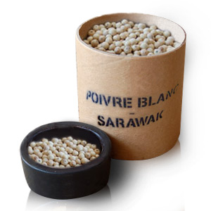Unrefined plant White Pepper Sarawak (Piper nigrum)
